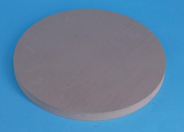 Gummidichtscheibe D=180 x 12mm dick aus Para grau ca. 40 Shore