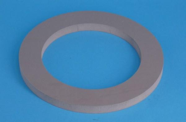 Gummidichtscheibe D=180 / d=125 x 12mm dick  aus Para grau ca. 40 Shore